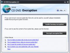 GiliSoft CD DVD Encryption 3.2.9 Screenshot