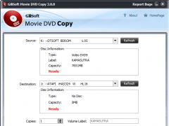 GiliSoft Movie DVD Copy 3.2.1 Screenshot