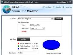 GiliSoft Secure Disc Creator 7.2.1 Screenshot