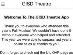 GISD Theatre 2.6.2 Screenshot