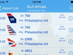 Glasgow Airport - iPlane Flight Information 8.0 Screenshot