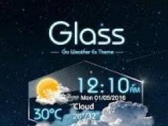 Glass GO Weather Widget Theme 1.0 Screenshot