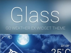 Glass Reward Theme GO Weather 1.1 Screenshot