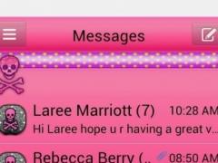 GlitterSkulls2GO SMS THEME 1.1 Screenshot