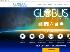Globus Privacy Browser 1.0.0.33 Screenshot