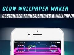 Glow Lock Screen Wallpaper Maker - Custom HD backgrounds, Icons, Shelves, Docks 2.1 Screenshot