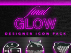 GLOW PINK icon pack HD 3D 1.7 Screenshot
