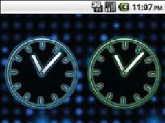 Glowing Neon Clocks - FREE 1.3 Screenshot