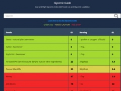 Glycemic Index Guide 1.6 Screenshot