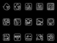 Onyx Glow GO Apex Nova Theme 1.9.9 Screenshot