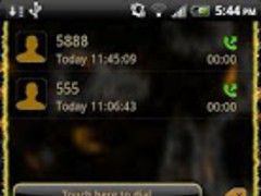 Go Contacts Gold Leopard Theme 1 Screenshot