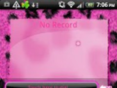 GO Contacts Pink Leopard Theme 1 Screenshot