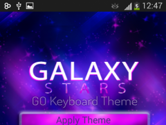 GO Keyboard Galaxy Stars Theme 1.0.4 Screenshot