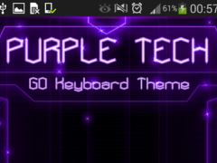 GO Keyboard Purple Tech Theme  Screenshot