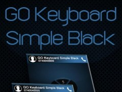 GO Keyboard Simple Black Theme 4.16 Screenshot