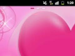 GO Launcher EX Theme Love Pink 3.0 Screenshot