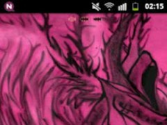 GO Launcher EX Theme Pink Emo 2.7 Screenshot