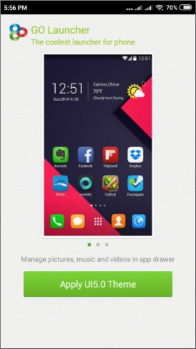 GO Launcher EX UI5 0 theme 2 08 Free Download