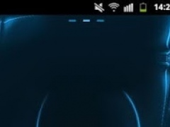 GO Launcher Themes Neon Blue 3.6 Screenshot