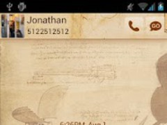 Go SMS Da Vinci Theme 1.0 Screenshot