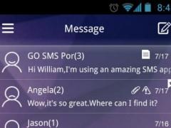 GO SMS Glass Theme 1.0 Screenshot