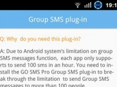 GO SMS Group sms plug-in 10 1.0 Screenshot