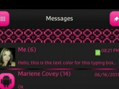 GO SMS - Hot Pink Pattern 1.1 Screenshot