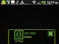 GO SMS Pro Alien theme 1.0 Screenshot