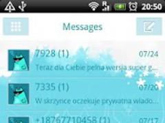 GO SMS Pro Blue Cat Theme 1.0.17 Screenshot
