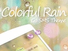 GO SMS PRO COLORFUL RAIN THEME 1.0 Screenshot