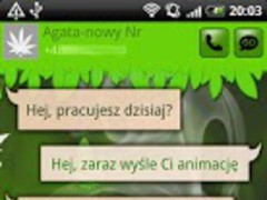 GO SMS Pro Ganja Theme 1.0.0 Screenshot
