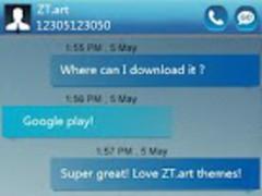 GO SMS Pro GlassBox Theme 1.0 Screenshot