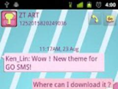 GO SMS Pro MORA Theme 1.0 Screenshot