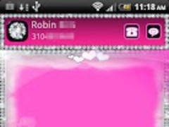 GO SMS PRO Pink Cloud Theme 1.0 Screenshot