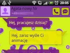 GO SMS Pro Purple&Yellow Theme 1.0.21 Screenshot