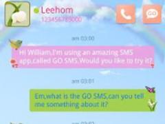 GO SMS PRO Spring SuperThemeEX 1.4 Screenshot