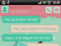 GO SMS Pro Sweet Cupcake Theme 1.0.25 Screenshot