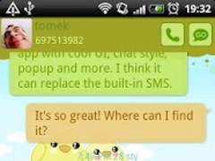 GO SMS Pro Sweet Spring Theme 1.0.19 Screenshot