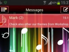 Theme Music GO SMS Pro 3.0 Screenshot