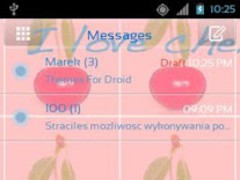 Theme Cherries for GO SMS Pro 3.0 Screenshot