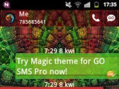 GO SMS PRO Theme Magic Mosaic 2.4 Screenshot