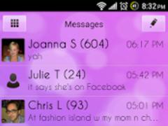 Go SMS Pro Theme Soft Pink 1.42 Screenshot