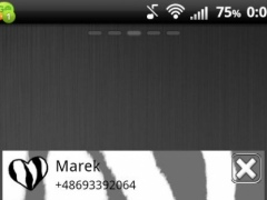 Zebra Theme for GO SMS Pro 3.0 Screenshot