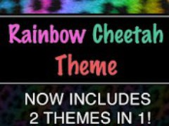 GO SMS Rainbow Cheetah Theme 1.8 Screenshot