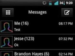 GO SMS Rainbow Glow Theme 1.1 Screenshot