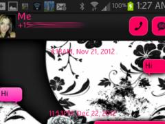 GO SMS - Rose Skulls 1.1 Screenshot