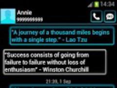 GO SMS Theme Blue Neon 2.50 Screenshot