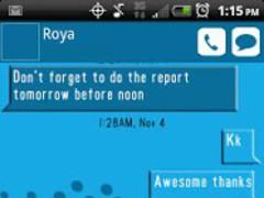 GO SMS THEME BLUE 1.0 Screenshot