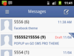 GO SMS Theme - Facebook 1.0.1.0 Screenshot