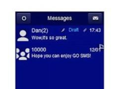 GO SMS Theme - Just Blue 1.0 Screenshot